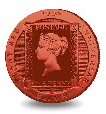 Ascension Island Penny Red Stamp 2016 Proof Sterling Silver 1 Crown Coin