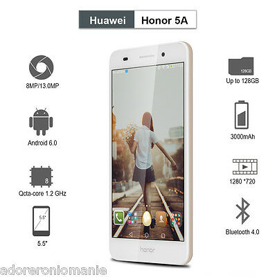 """5.5""""Huawei Honor 5A 4G LTE Smartphone Dual SIM Android 2GB 16GB OctaCore Móvil"""