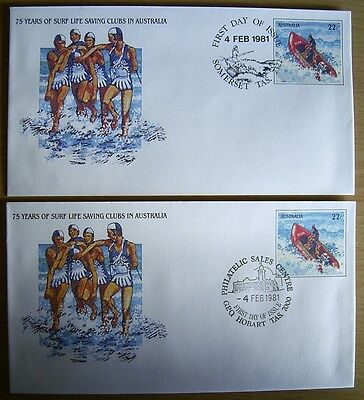 75 YEARS SURF LIFE SAVING CLUBS IN AUST 2 X FDI PSE-032 Somerset + GPO Hobart