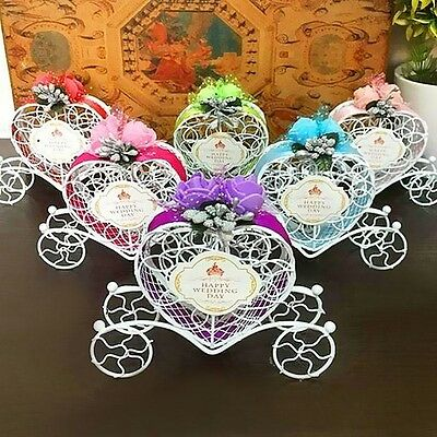 Cute Cinderella Carriage Candy Chocolate Boxes Wedding Party Favour Decoration