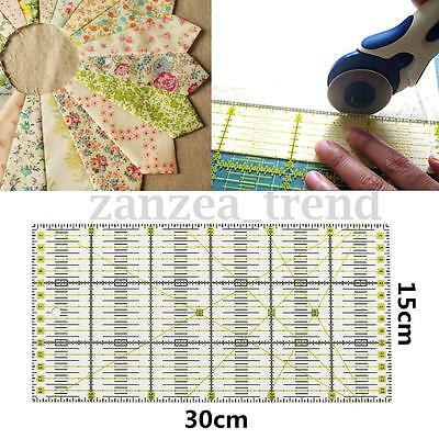 12'' x 6'' Quilting Patchwork Ruler Premium Rotary Craft Rectangle Metric Tool