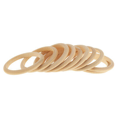 Lot Of 10pcs Natural Unfinished Wooden Bracelet Bangle Cuff