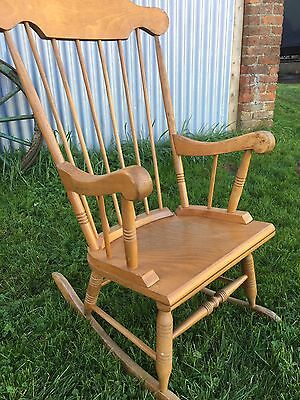 Mid Century Oak Rocking Chair