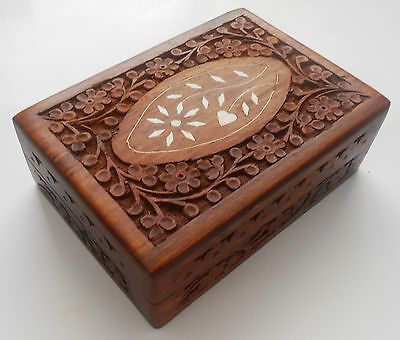 Hand Crafted Wooden Jewelry Box from India