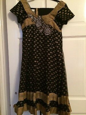 Black Gorgeous Anarkali With Gold Work