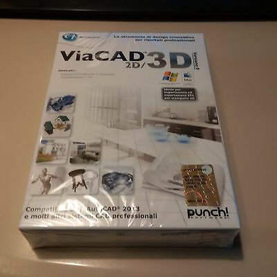 AVANQUEST PUNCH VIACAD 2D/3D VERSIONE 9 ITALIANO nuovo