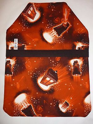 HANDMADE DR WHO/TARDIS/DARLEK/SPACE FABRIC HOT WATER BOTTLE COVER + 2L Bottle