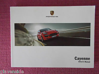 Porsche Cayenne Owners Manual - Owners Guide - Handbook. (Po 17)
