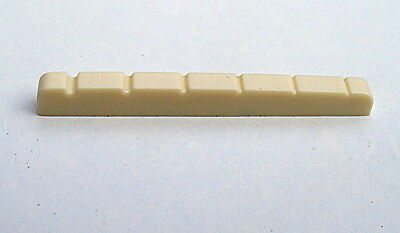 Electric Guitar Nut 43mm x 3.4mm x 4.6mm to 3.8mm Cream-Coloured