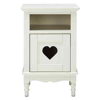 Evie White Bedside Table Free Next Day Delivery