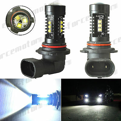 2x 9006 HB4 CREE LED Fog Light Driving Bulb HID White 2000LM 80W Black Alluminum