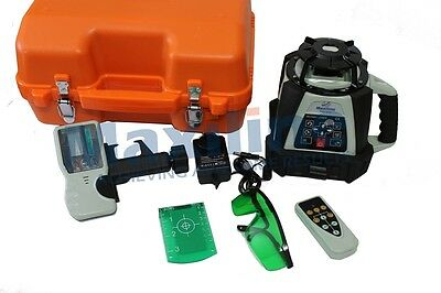 New GSW201G Green Beam Auto Self Levelling Rotating Rotary Laser Level Detector