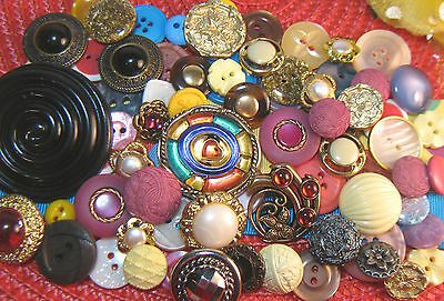 Lot Of 70+ ~ Buttons~ Vintage To Now~Assorted~Fancy~Collector~Plain~Colors