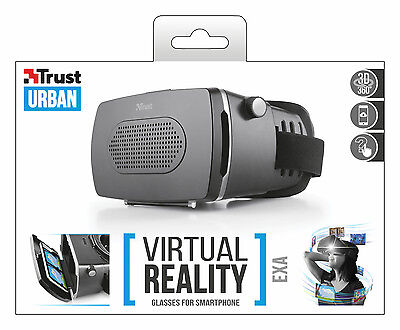 "Trust 21494 Exa Vr Virtual Reality Glasses Headset For 3.5"" To 6"" Smartphones"