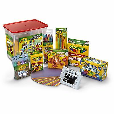 Crayola Kids Craft Kit Crayons, Chalk, Twistable Colored Pencils and More