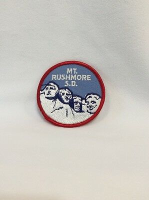"""Mt. Rushmore S.D. Collectible Round Patch 3"""" in Diameter"""