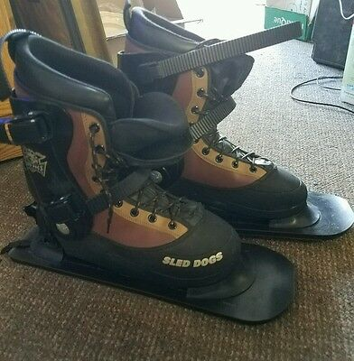 Sled Dogs  Snow Skates Boots Skis Mens  size 10