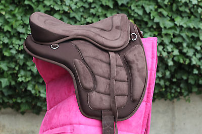 "Brand New Equipride Synthetic Treeless Saddle GP Saddle 16"" Plus Free Girth"