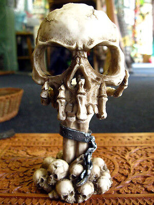 SKULL TEALIGHT CANDLE HOLDER Deliberation GOTHIC HORROR Celtic WICCAN PAGAN