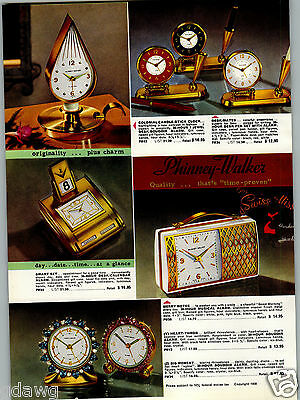 Collectibles 1957 Paper Ad 2 Sided Phinney Walker Travel Alarm Calendar Desk Mate Rhinestones Special Summer Sale Other Collectible Ads