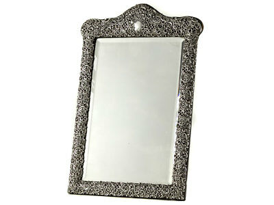 1903 Large Rococo Sterling Silver Dressing Table Mirror