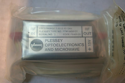 Plessey RF Amplifier A16 TYPE NO.FTM 8450/01 Military Specs NOS