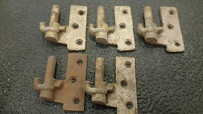 5  Antique  Cast Iron Shutter Hinge Parts Architectural Vintage