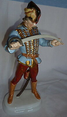 Herend Figurine Hungary Hadik Hussar Soldier w/ Sword #5505 - Signed