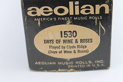 Aeolian Days of Wine & Roses Player Piano Roll Clyde Ridge