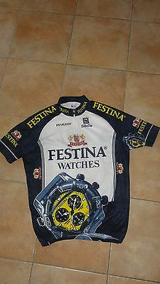 Maillot cyclisme velo cycliste shirt jersey FESTINA PEUGEOT Taille XXL
