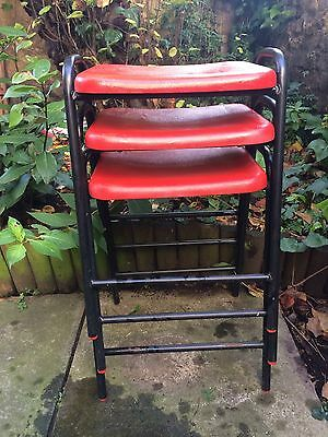 Vintage 1970s Robin Day Hille stackable stools x 3
