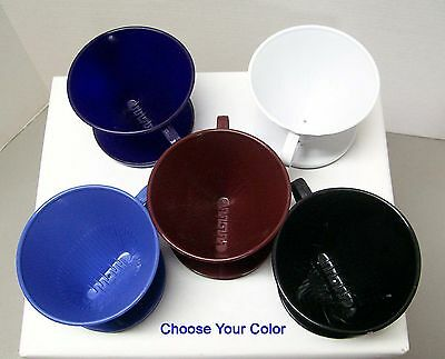 Melitta No. 2 PERFECT BREW Style Cone Filter CoffeeMaker Choice Of 5 Colors NEW