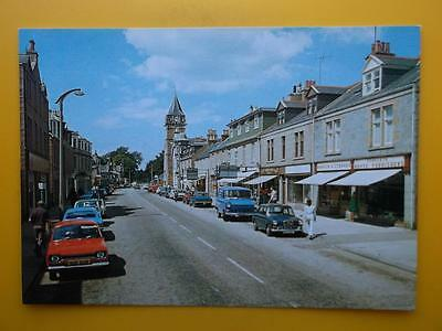 Shops & Old Cars High Street BANCHORY Kincardineshire c1970s