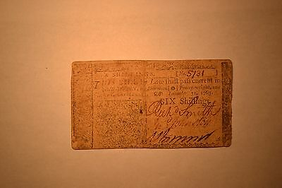 New Jersey December 31, 1763 6 Shillings.  Fine/VF.  A nice, original note.