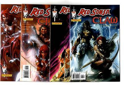 Red Sonja: Claw #1-4 + Variants (2006) Dynamite VF/NM to NM