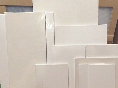 Lot Of 10! Variety Mix 100% White Cotton Blank  Art Canvas Panels! Large!