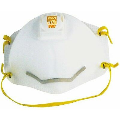 3M 8511 Respirator with Cool Flow Valve, 10 Count, Yellow