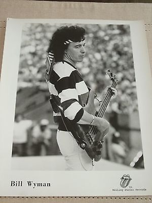 bill wyman  Rolling Stones  Records Studio Photo 8X10