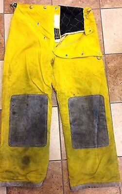 Fire Fighter Turn Out Gear, Yellow Pants Size Medium