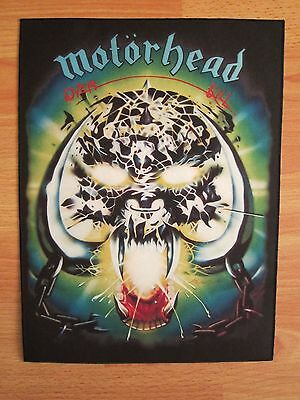 MOTORHEAD Overkill BACK PATCH printed NEW