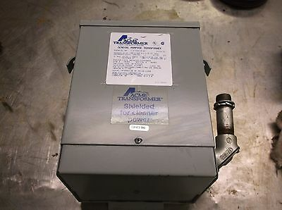 Acme T 2-53013-S 3Kva 1Ph 240/480V-Ac 120/240V-Ac Voltage Transformer
