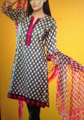 ORIGINAL KHAADI 3PC SUIT  Embroidered COTTON TAILOR STITCHED Classic Print