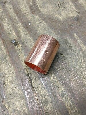 "1-1/4"" Wrot Copper Sweat Dimple Stop Coupling"