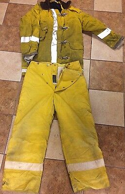Yellow Firefighter Turn Out Gear-Jacket & Pants