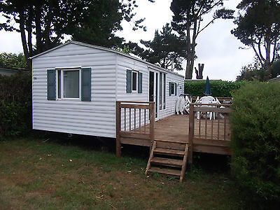 Caravan Mobile Home Hire 22nd July to 26th Aug Brittany France 4 berth Quinquis