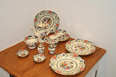 Antique Coalport Kings Ware Canton Eleven (11) Piece  Made in England Chinaware.