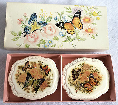 Avon Summer Butterflies Special Occasion 2 Decal Soaps Vintage in Box