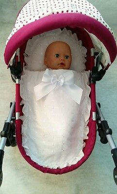 8240db0ec NEW HAND KNITTED Dolls Pram Cover   Pillow Set - £8.00