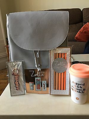 Zoella On My Travel Back Pack! Pencil Mug And Keyring In Gorgeous Rucksack