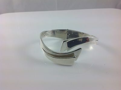 Vintage Sterling Silver, Hinged Cuff Bracelet, Mexico, TD-27, 950, Alicia
